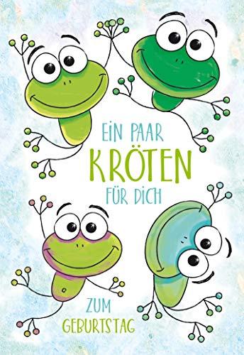 Geburtstagskarte, Karte Geldgeschenk, Geldscheinkarte, Geburtstagskarte Spruch, B6, Set mit Umschlag, Motiv: Frosch