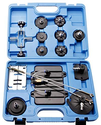 Herkules Werkzeuge Adapter Set 11 TLG. für Druckluft Bremsenentlüfter Bremsenentlüftungsgerät E20