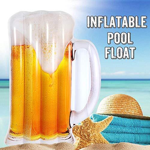 Cosy-TT Beer Shaped Water Hammock Pool Lounger Float Inflatable Rafts, Water Floating Sleeping Bed Pool Floats Portable Floating Lounger Chair for Adults & Kids