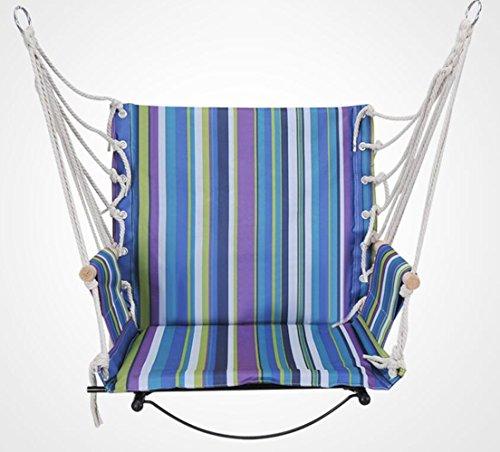 Rdjm Jardin Dormitory à suspendre Corde Hamac Chaise porche Balancelle pour l'intérieur ou à l'extérieur les espaces Fauteuil à bascule, b