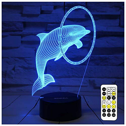 ZOKEA Night Light 3D lamp 7 Colors Changing Nightlight with Smart Touch...