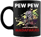 Pew Pew Ma-Da Fakas The Mand Alorian Ba By Yo-Da T Mug Mug With Handle, Insulated Ceramic Reusable Coffee Cup, Coffee Travel Mug