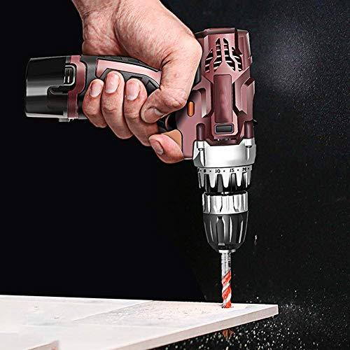 ZY Cordless Drill Driver, 18V Cordless Drill Set, 18 1 Regolazione della Coppia Gear +, Il Caricatore Veloce, 2 velocità, LED Light Work (Colore: 2 batterie) LOLDF1 (Color : 1 Battery)