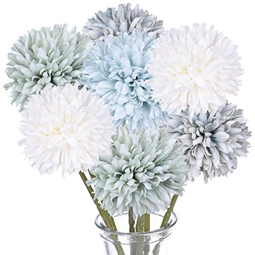 DearHouse Artificial Flowers, 7 Pcs Fake Flowers Silk Artificial Hydrangea Bridal Wedding Bouquet for Home Garden Party Wedding Decoration (Multicolor)