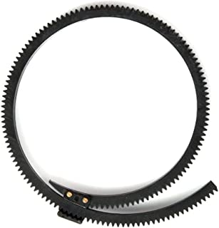 Fotga Rubber Flexible Gear Belt Ring for DP500IIS DP500III JTZ DP30 Follow Focus,Adjustable from 46mm to 110mm Black