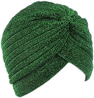 Jixin4you Glister Turban Twist Muslim Headscarf Headband Chemo Hat for Cancer Patient