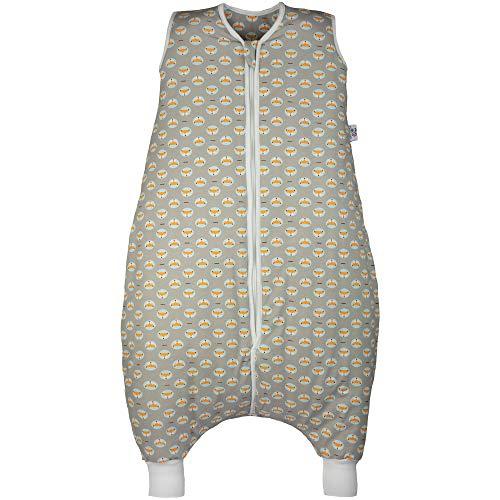 Hosenmax Babyschlafsack mit Beinen – Bio Baumwolle – Ganzjahres Schlafsack Baby – Flinker Fuchs Größe 90 cm – Gratis E-Book