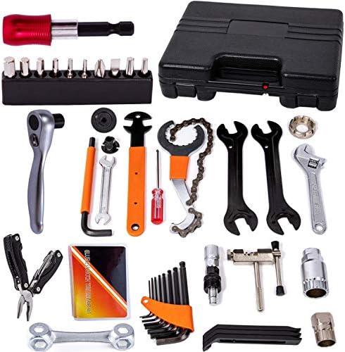 YBEKI Bike Repair Tool Kit Bicycle Tool Kit Set with Reversible Drive Ratchet Tool Chain Tool product image