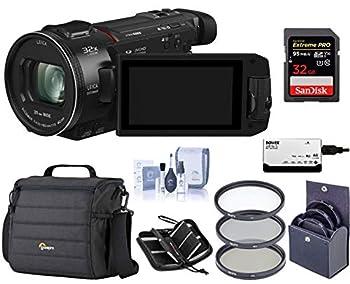Panasonic HC-WXF1K 4K UHD Camcorder 24x Leica Dicomar Lens Bundle with Video Bag + 62mm Filter Kit + 32GB SDHC Card + Cleaning Kit + Memory Wallet + Multi Card Reader