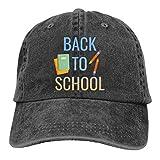 IUBBKI Gorra de béisbol Negra Unisex, Cuadernos Escolares y lápices Ajustables con Personalidad Sombrero de Cola de Caballo con sombrilla