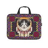 Native American Cat - Funda protectora para portátil (neopreno), diseño de gato americano, para el trabajo, la escuela, la universidad, viajes, blanco (Blanco) - Dogedou670