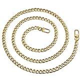 Vordas Catena Borse in Metallo Cinghie, Generic Sostituzione Sacchetto Catena con Fibbie per Borsa a Spalla da Donna (Oro)