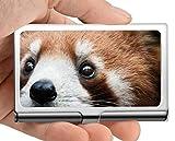 Visitenkartenetui Brieftasche, Tier Tierpanda Visitenkartenetui Visitenkartenetui (Edelstahl)