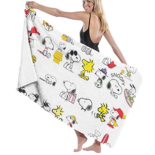 Snoopy Toalla de baño de secado rápido para hombres y mujeres con estilo natación yoga bikini deportes viajes camping toallas