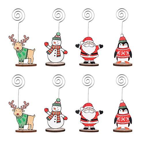 Vosarea 20Pcs Weihnachten Kartenhalter Memohalter Fotohalter Tischdeko Gastgeschenk für Weihnachten Weihnachtsbaum