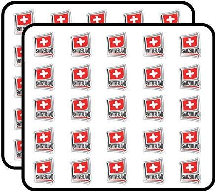 Zwitserland Vlag Slogan Reizen Vinyl Stickers Grappige Leuke voor Kids DIY Crafts, Scrapbooking, Laptop, Bumper Auto Stickers, Stickers voor kinderen, 50 Pack