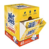 Wet Ones Antibacterial Hand Wipes, Tropical Splash Scent, 48 Individually Wrapped Wipes in a Dispenser, Packaging May Vary