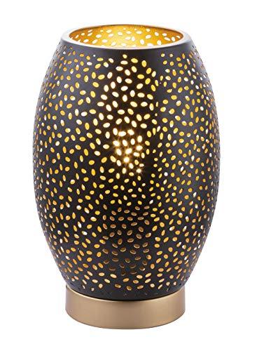 Design tafellamp wonen werkkamer decor gestanste lamp goud zwart Globo 24002S