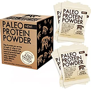 PaleoPro Protein Powder (Aztec Vanilla Single Serve Packs) Grass-Fed, Pastured, Cage-Free Protein | Gluten Free, Dairy Fre...