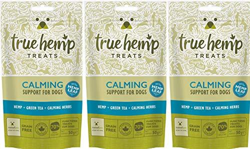 True Hemp Hundeleckerli mit Hanf Treats Calming (3er Bundle) - zur Entspannung Ihres Hundes