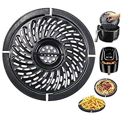 Air Fryer Replacement Grill Pan For Power Dash Chefman 2QT Air Fryers Crisper Plate,Air fryer Grill Plate,Non-Stick Fry Coating Pan,Dishwasher Safe (2QT)