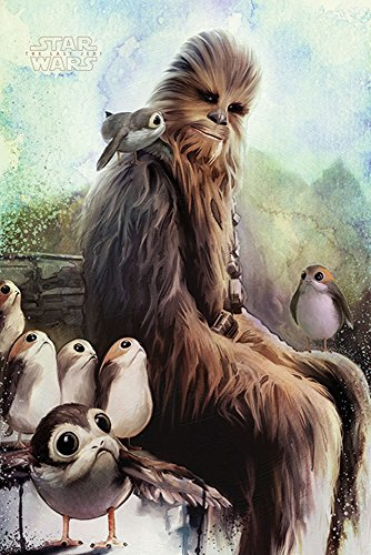 Star Wars - The Last Jedi - Poster - Chewbacca & Porgs + Ü-Poster