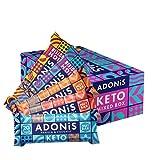 Adonis Low Sugar Barritas - Selección Mixta | 100% Natural, Baja en Carbohidratos, Sin, Vegano, Paleo, Keto (Box of 20)