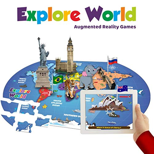 PLAYAUTOMA Explore World (App Based) - World Map Jigsaw review