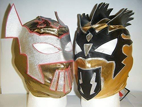 WRESTLING MASKS UK The Golden Lucha Dragons - Kalisto und Sin Cara Reißverschluss Kinder Masken