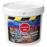 Mortier anti infiltrations eau ciment enduit prise rapide stop fuite béton colmatage Scellement drain réparation tuyau ARCASTOP - gris - 5kg - ARCANE INDUSTRIES