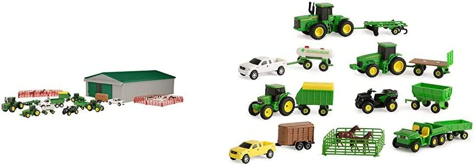 TOMY John Deere Die-cast Farm Value Complete Free Shipping Playset Toy Piece Fashionable 70