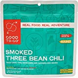 GOOD TO-GO Smoked Three Bean Chili - Double Serving | Dehydrated Backpacking and Camping Food | Lightweight | Easy to Prepare