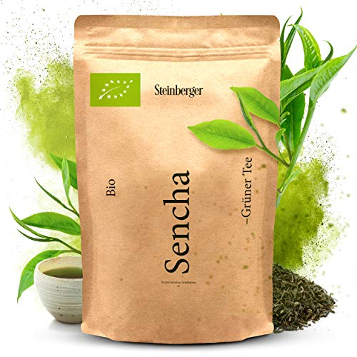 Premium BIO Sencha Grüntee von Steinberger | fein-herb aromatischer Grüner Tee | 250 g im wiederverschließbaren Aromapack