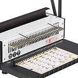 Máquina de encuadernación, encuadernadora, 34 agujeros, 130 hojas, A4 cuadrados, máquina de encuadernación en espiral con kit de iniciación para documentos diarios de oficina