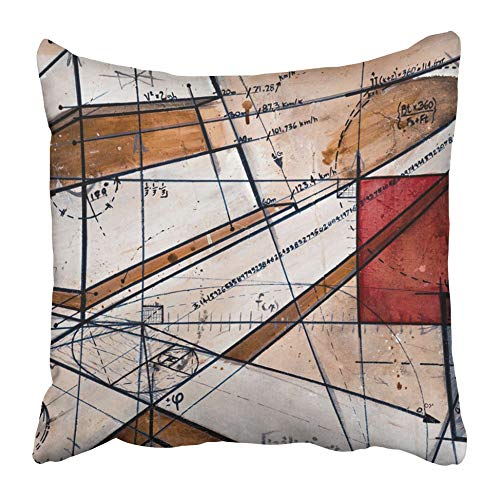 Moily Fayshow Throw Cushion Cover Abstract Real Contemporary Painting On Canvas With Code Maths And Gold Number Oil Sketch Life Shape 50X50 Cm