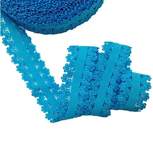 Kleur band snap snap kroon 5Yards Vouw DIY haaraccessoires Spandex Meer,blauw L29
