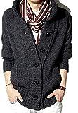 [シュバリアン]F10206 男性用 男の子 オトコ メンズ ボーイズ アウトドア おおきいサイズ 春夏用 春夏秋用 スプリング サマー ウィンター ウインター ベージュ 大きいサイズ ブランド おしゃれ ポケット ゆったり あったかい かっこいい シンプル オシャレ ファッション ビジネス ボタン カーディガン オールシーズン ニット 防寒着 コート 可愛い アウター 大きめ グレー GYXXL