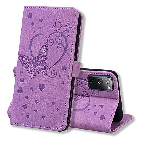 Keikail Funda Samsung Galaxy S20 FE 5G, Flip Caso Magnética Tarjetero Tapa de Cuero, Patrón de...