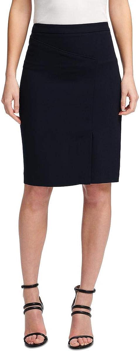 DKNY Womens Knee Length Solid Pencil Skirt