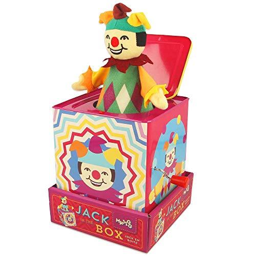 Majigg-WD211 Majigg Jester Jack en la caja, juguete musical tradicional, Multicolor (Keycraft WD211 , color/modelo surtido