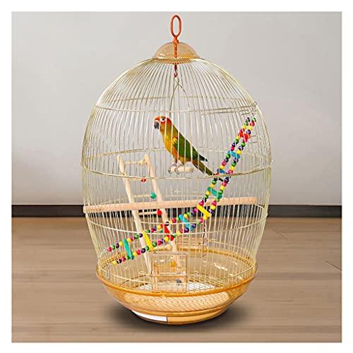 ZANZAN Gabbie per Uccelli Decorative 30. 7' Cage Volo Tondo Cage Cage Elettroplavamento Golden Parrot Gabbia per Uccelli per Uso Domestico Grandi Giocattoli