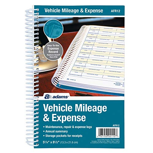 Adams Automobile Log Books (ABFAFR12) Pack Of 2