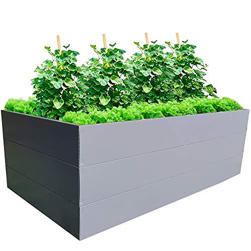 GARTENDEK Hochbeet, Blumenhochbeet für Garten - Premiumqualität. Gartenbeet aus Verzinktem Metall (2 x 1 x 0.63m)