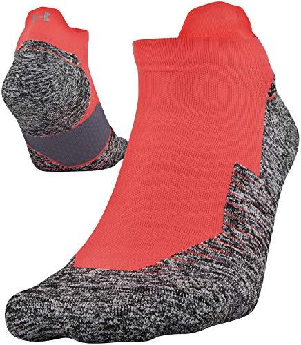 Under Armour Adult Run Cushion No Show Tab Socks, 1-Pair , Beta Red , Shoe Size: Mens 4-8, Womens 6-9