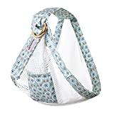 Baby Wrap Carrier Ring Sling: Comfortable Slings for Easy Wearing and Carrying of Babies, Infant and Toddler. Carriers Ideal for Baby Registry, Breastfeeding and Nursing (Blue)