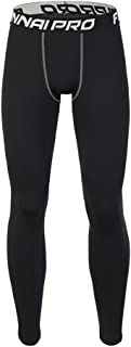 GREFER Mens Compression Cool Dry Sports Tights Pants Running Leggings Yoga