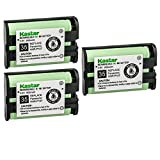 Kastar 3-Pack HHR-P107 Battery Replacement for Panasonic KX-TG3031-12 KX-TG3032 KXTG3032 KX-TG3032B KXTG3032B KX-TG3032BP KXTG3032BP KX-TG3032PK KXTG3032PK KX-TG3033 KXTG3033 KX-TG3033PK KXTG3033PK
