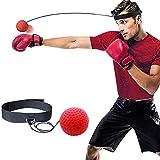 Libertepe Balle de Réflexe Boxe Bandeau de Tête Entraînement de Musculation Formation de Vitesse Version Classique Nouveau (TYPE 1)