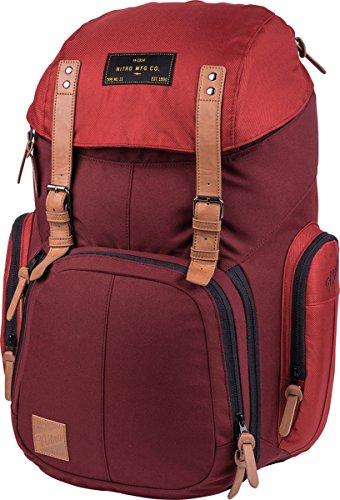 Weekender Alltagsrucksack mit gepolstertem Laptopfach, Schulrucksack, Wanderrucksack inkl. Nassfach, 42 L, Chili