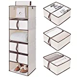 StorageWorks 6-Shelf Hanging Closet Shelves, Hanging Closet Organizer...